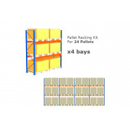 Pallet Racking Kit For 24 Pallets 11289wx3000h