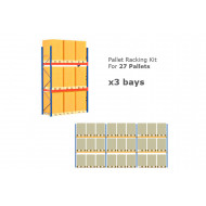 Pallet Racking Kit For 27 Pallets 8503wx4000h