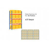 Pallet Racking Kit For 36 Pallets 8503wx4000h