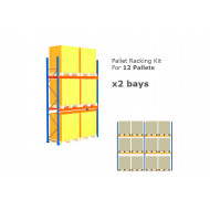 Pallet Racking Kit For 12 Pallets 5717wx4000h