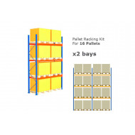 Pallet Racking Kit For 16 Pallets 5717wx4000h