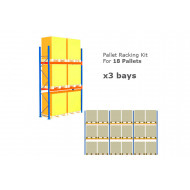 Pallet Racking Kit For 18 Pallets 8503wx4000h