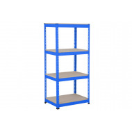 Rapid 1 Heavy Duty Shelving With 4 Chipboard Shelves 915wx1980h (Blue)