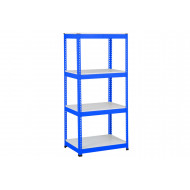 Rapid 1 Heavy Duty Shelving With 4 Melamine Shelves 915wx1980h (Blue)