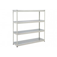 Rapid 1 Heavy Duty Shelving With 4 Galvanized Shelves 1220wx1980h (Grey)