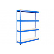 Rapid 1 Heavy Duty Shelving With 4 Melamine Shelves 1220wx1980h (Blue)