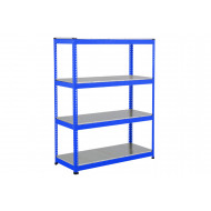 Rapid 1 Heavy Duty Shelving With 4 Galvanized Shelves 1525wx1980h (Blue)