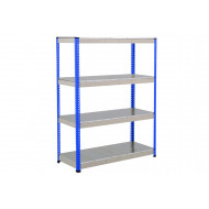 Rapid 1 Heavy Duty Shelving With 4 Galvanized Shelves 1525wx1980h (Blue/Grey)