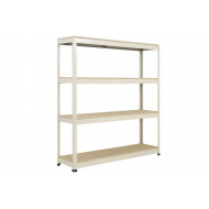 Rapid 1 Heavy Duty Shelving With 4 Chipboard Shelves 1525wx1980h (Grey)