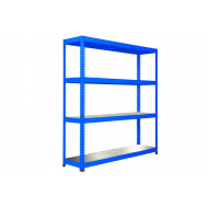 Rapid 1 Heavy Duty Shelving With 4 Galvanized Shelves 1830wx1980h (Blue)