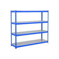 Rapid 1 Heavy Duty Shelving With 4 Galvanized Shelves 2134wx1980h (Blue)