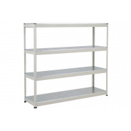 Rapid 1 Heavy Duty Shelving With 4 Galvanized Shelves 2134wx1980h (Grey)