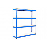 Rapid 1 Heavy Duty Shelving With 4 Melamine Shelves 2134wx1980h (Blue)