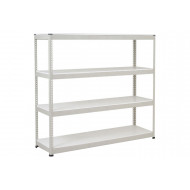 Rapid 1 Heavy Duty Shelving With 4 Melamine Shelves 2134wx1980h (Grey)