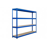 Rapid 1 Heavy Duty Shelving With 4 Chipboard Shelves 2440Wx1980H (Blue)