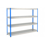 Rapid 1 Heavy Duty Shelving With 4 Galvanized Shelves 2440wx1980h (Blue/Grey)