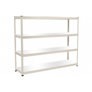 Rapid 1 Heavy Duty Shelving With 4 Melamine Shelves 2440wx1980h (Grey)