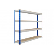 Rapid 1 Heavy Duty Shelving With 4 Chipboard Shelves 2440wx1980h (Blue/Grey)