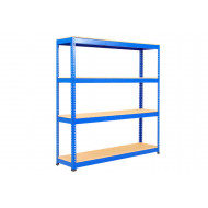 Rapid 1 Heavy Duty Shelving With 4 Chipboard Shelves 1525Wx2440H (Blue)