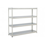 Rapid 1 Heavy Duty Shelving With 4 Galvanized Shelves 1525wx2440h (Grey)