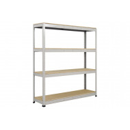 Rapid 1 Heavy Duty Shelving With 4 Chipboard Shelves 1830wx2440h (Grey)