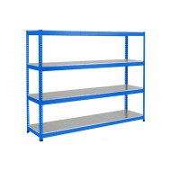 Rapid 1 Heavy Duty Shelving With 4 Galvanized Shelves 2440wx2440h (Blue)