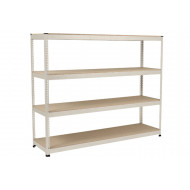 Rapid 1 Heavy Duty Shelving With 4 Chipboard Shelves 2440wx2440h (Grey)