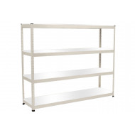 Rapid 1 Heavy Duty Shelving With 4 Melamine Shelves 2440wx2440h (Grey)