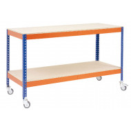Rapid 1 Mobile Wokbench With 2 Chipboard Shelves