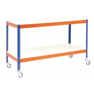 Rapid 1 Mobile Workbench With 2 Melamine Shelves