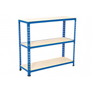 Rapid 2 Shelving With 3 Chipboard Shelves 915wx915h (Blue)