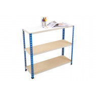 Rapid 2 Shelving With 3 Chipboard Shelves 915wx915h (Blue/Grey)