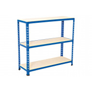 Rapid 2 Shelving With 3 Chipboard Shelves 915wx990h (Blue)