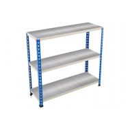Rapid 2 Shelving With 3 Galvanized Shelves 915wx990h (Blue/Grey)