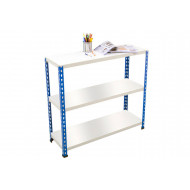 Rapid 2 Shelving With 3 Melamine Shelves 915wx990h (Blue/Grey)