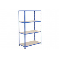 Rapid 2 Shelving With 4 Chipboard Shelves 915wx1600h (Blue)