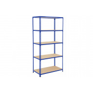 Rapid 2 Shelving With 5 Chipboard Shelves 915wx1600h (Blue)