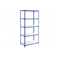Rapid 2 Shelving With 5 Melamine Shelves 915wx1600h (Blue)