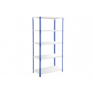 Rapid 2 Shelving With 5 Galvanized Shelves 915wx1600h (Blue/Grey)