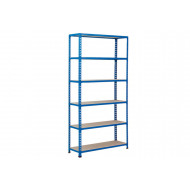 Rapid 2 Shelving With 6 Chipboard Shelves 915wx1600h (Blue)