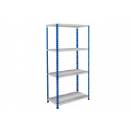 Rapid 2 Shelving With 4 Galvanized Shelves 915wx1600h (Blue/Grey)