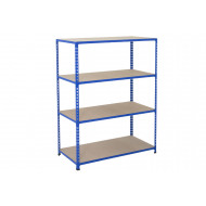 Rapid 2 Shelving With 4 Chipboard Shelves 1220wx990h (Blue)