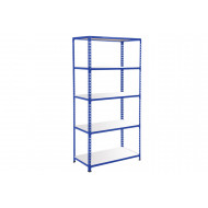 Rapid 2 Shelving With 5 Melamine Shelves 1220Wx1600H (Blue)