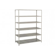 Rapid 2 Shelving With 6 Galvanized Shelves 1220wx1600h (Blue/Grey)