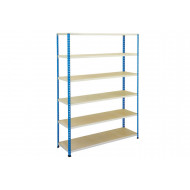 Rapid 2 shelving with 6 melamine shelves 1220wx1600h (blue/grey)