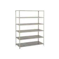 Rapid 2 Shelving With 6 Galvanized Shelves 1220wx1600h (Grey)
