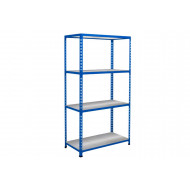 Rapid 2 Shelving With 4 Galvanized Shelves 1220wx1600h (Blue)