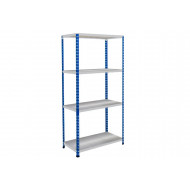 Rapid 2 Shelving With 4 Galvanized Shelves 1220wx1600h (Blue/Grey)