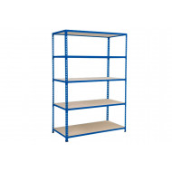 Rapid 2 shelving with 5 chipboard shelves 1525wx1600h (blue)
