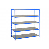 Rapid 2 Shelving With 5 Galvanized Shelves 1525wx1600h (Blue)